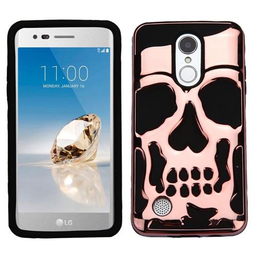 Insten Skullcap Hard Plastic Case For LG Fortune/K4 (2017)/K8 (2017)/LV3/Phoenix 3, Rose Gold/Black