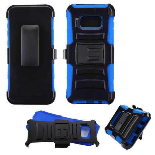 Insten Advanced Armor Hard Hybrid TPU Case w/stand/Holster For Samsung Galaxy S8 Plus, Black/Blue