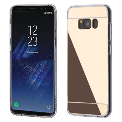 Insten Gel Cover Case For Samsung Galaxy S8 Plus, Gold/Clear