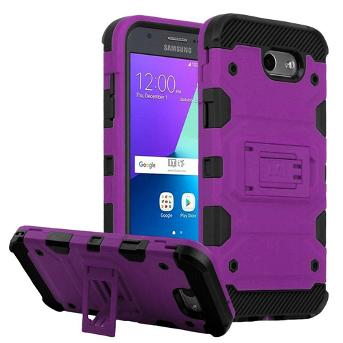 Insten Tank Hard Case For Samsung Galaxy Amp Prime 2/Express Prime 2/J3 (2017)/J3 Emerge, Purple