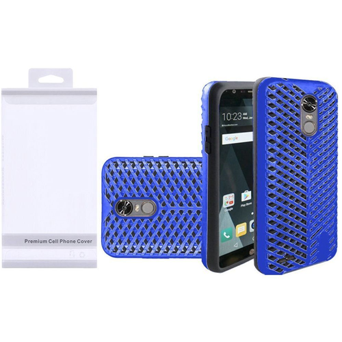 Insten ZigZag Hard Dual Layer TPU Case For LG Stylo 3, Blue/Black