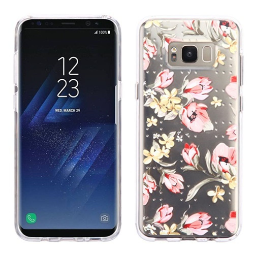 Insten Painted Flowers Gel Case For Samsung Galaxy S8 Plus, Multi-Color