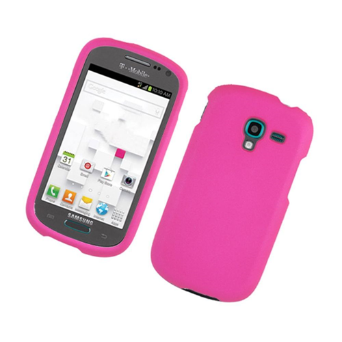Insten Hard Rubber Coated Cover Case For Samsung Galaxy Exhibit T599, Hot Pink