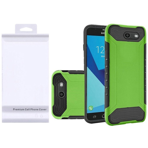 Insten Slim Armor Hard Case For Samsung Galaxy Halo/J7 (2017)/J7 Perx/J7 Prime, Neon Green