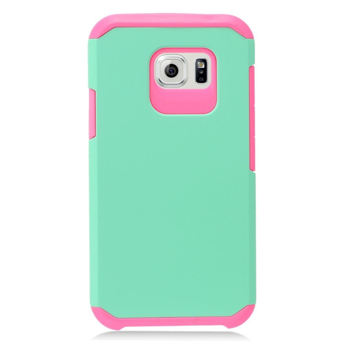 Insten Hard Dual Layer TPU Case For Samsung Galaxy S7 Active, Mint Green/Hot Pink