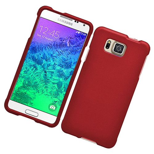 Insten Hard Cover Case For Samsung Galaxy Alpha, Red