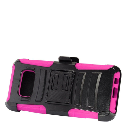 Insten Advanced Armor Hard Hybrid Plastic Case w/stand For Samsung Galaxy S8 Plus, Black/Hot Pink