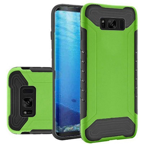 Insten Fitted Soft Shell Case for Samsung Galaxy S8 - Neon Green;Black