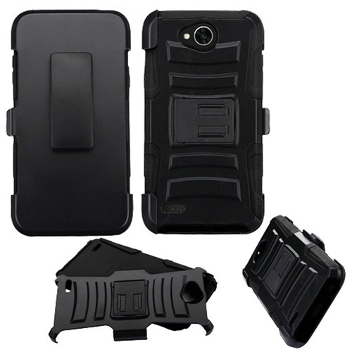 Insten Advanced Armor Hard Hybrid TPU Cover Case w/stand/Holster For LG X Power 2, Black
