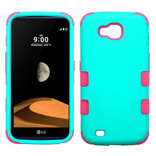 Insten Tuff Hard Dual Layer TPU Case For LG V9/X Venture, Teal/Hot Pink