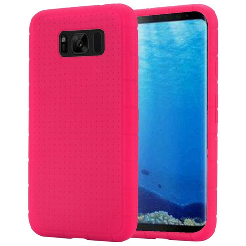 Insten Rugged Soft Rubber Case For Samsung Galaxy S8, Hot Pink