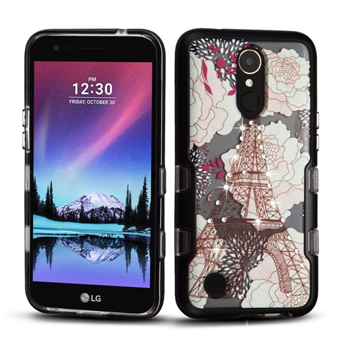 Insten Eiffel Tower Hard Hybrid Case w/Diamond For LG Harmony/K10 (2017)/K20 Plus/K20 V, Multi-Color