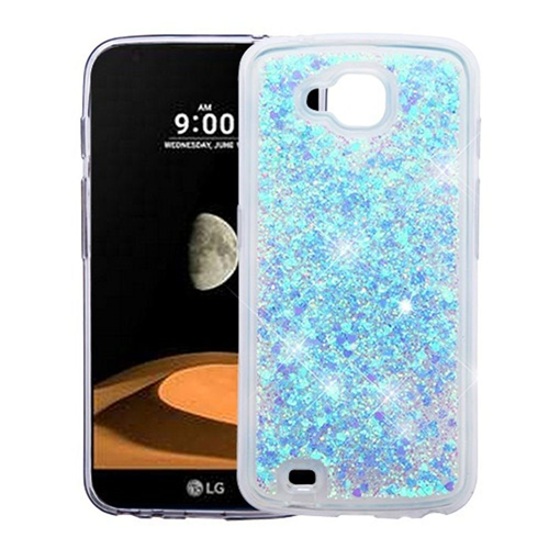 Insten Quicksand Hearts Hard Plastic TPU Cover Case For LG V9/X Venture, Blue