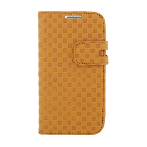 Insten Flip Leather Fabric Cover Case w/card holder For Samsung Galaxy S4, Brown