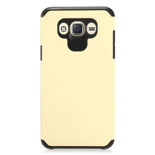Insten Hard Hybrid TPU Case For Samsung Galaxy J7 (2016), Gold/Black