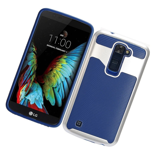 Insten Slim Hard TPU Case For LG K10 (2016), Blue/Silver
