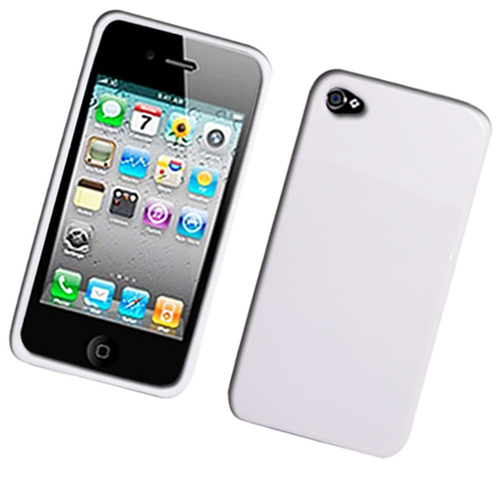 Insten Rubber Cover Case For Apple iPhone 4/4S, White