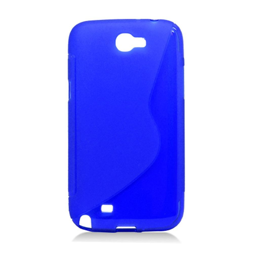Insten S Shape TPU Case For Samsung Galaxy Note II, Blue