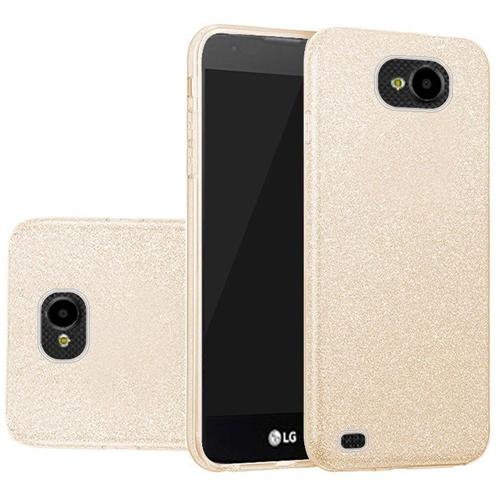 Insten Hard Glitter TPU Case For LG X Venture, Gold