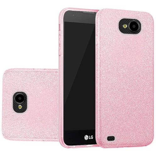 Insten Hard Glitter TPU Cover Case For LG X Venture, Pink