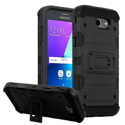 Insten Tank Hard Case For Samsung Galaxy Amp Prime 2/Express Prime 2/J3 (2017)/J3 Emerge, Black