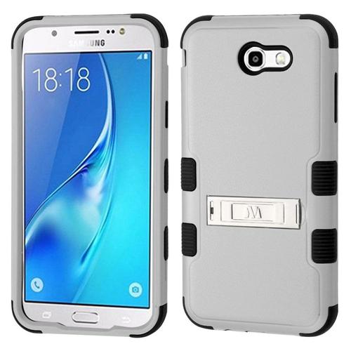 Insten Hard Hybrid Plastic TPU Case For Samsung Galaxy J7 (2017)/J7 Perx/J7 Sky Pro/J7 V, Gray/Black