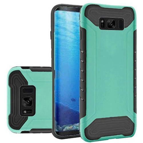 Insten Slim Armor Hard Hybrid Plastic TPU Case For Samsung Galaxy S8, Teal/Black