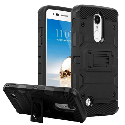 Insten Tank Hard Hybrid TPU Case For LG Aristo/Fortune/K4 (2017)/K8 (2017)/LV3/Phoenix 3, Black