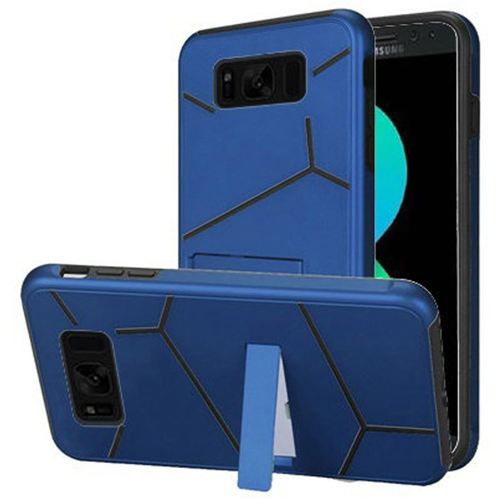 Insten Hard Hybrid Plastic TPU Case w/stand For Samsung Galaxy S8 Plus, Blue/Black