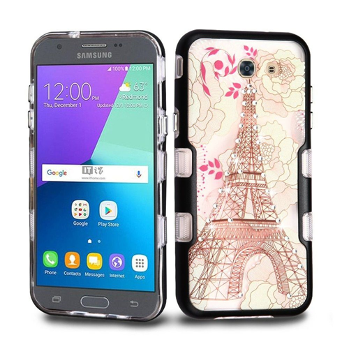 Insten Eiffel Tower Hard Case For Samsung Galaxy Amp Prime 2/Express Prime 2/J3 (2017), Multi-Color