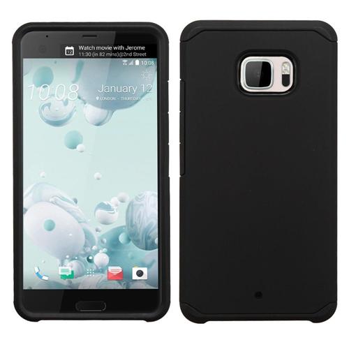 Insten Hard Dual Layer TPU Case For HTC U Ultra, Black