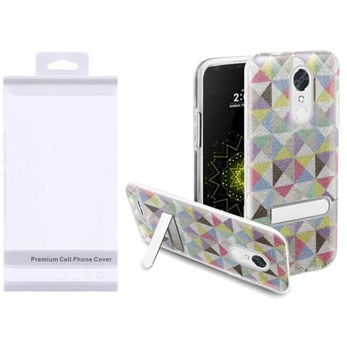 Insten Checker Hard Glitter TPU Cover Case w/stand For LG Grace 4G/Harmony/K20 Plus/K20 V, Colorful