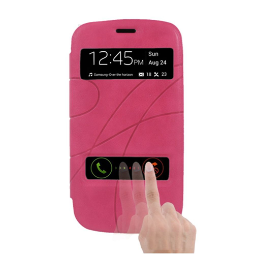 Insten Flip Leather Fabric Cover Case For Samsung Galaxy S3, Pink