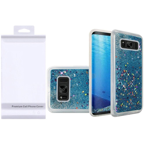 Insten Quicksand Hard Glitter TPU Cover Case For Samsung Galaxy S8, Blue