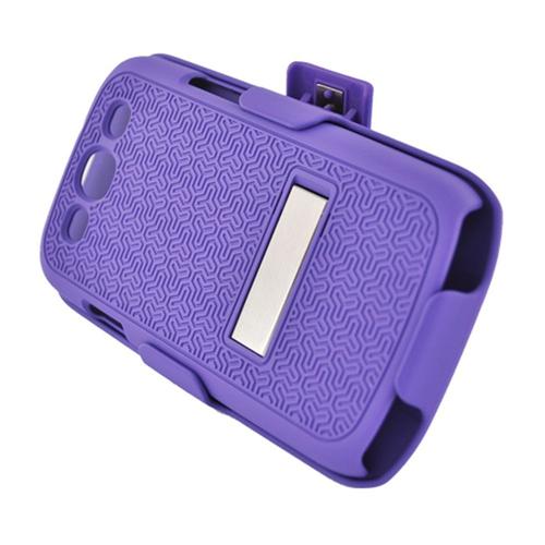 Insten Hard Case w/stand/Holster For Samsung Galaxy S3, Purple