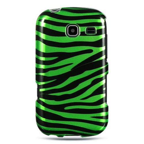 Insten Zebra Hard Plastic Case For Samsung Freeform III R380, Black/Green