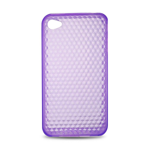Insten Gel Clear Case For Apple iPhone 4, Purple