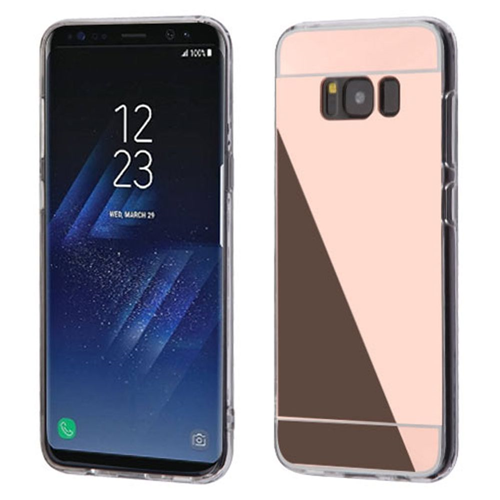 Insten TPU Cover Case For Samsung Galaxy S8 Plus, Rose Gold/Clear