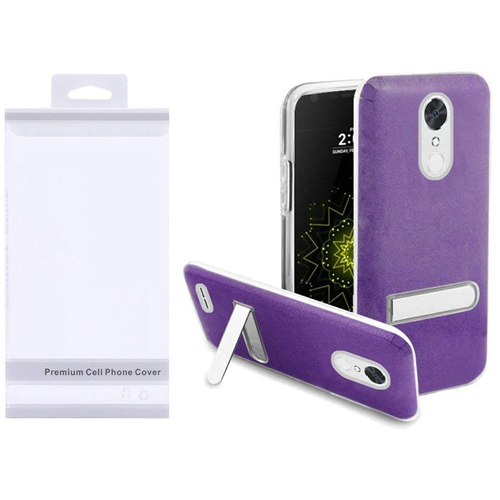 Insten Hard Plastic TPU Case w/stand For LG Grace 4G/Harmony/K20 Plus/K20 V, Purple/Clear