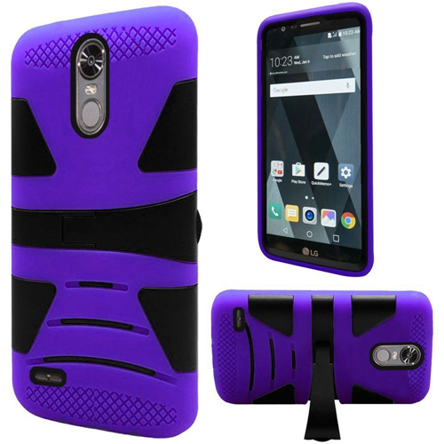 Insten Hard Hybrid TPU Case w/stand For LG Stylo 3, Purple/Black