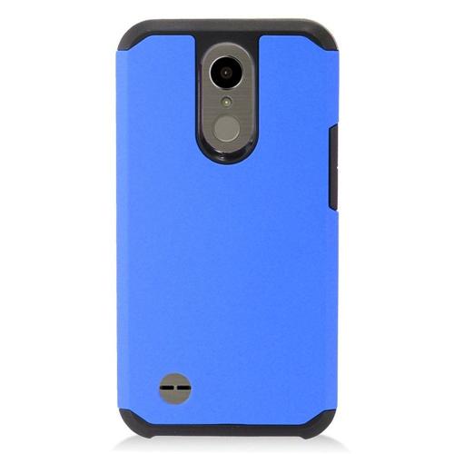 Insten Hard TPU Cover Case For LG Harmony/K10 (2017)/K20 Plus/K20 V, Blue/Black