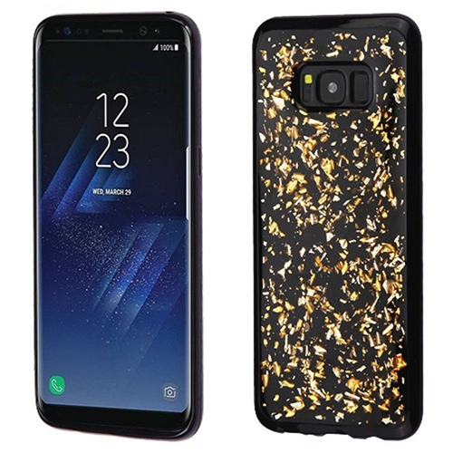 Insten Flakes TPU Case For Samsung Galaxy S8, Gold/Black