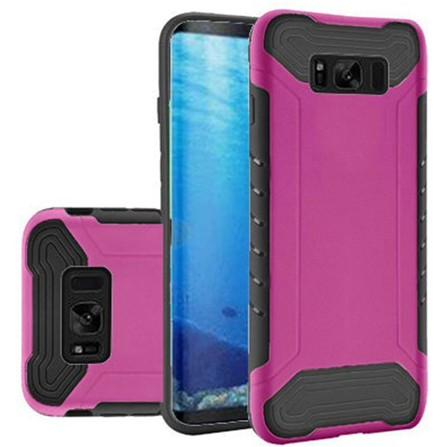 Insten Slim Armor Hard Hybrid Plastic TPU Cover Case For Samsung Galaxy S8, Hot Pink/Black