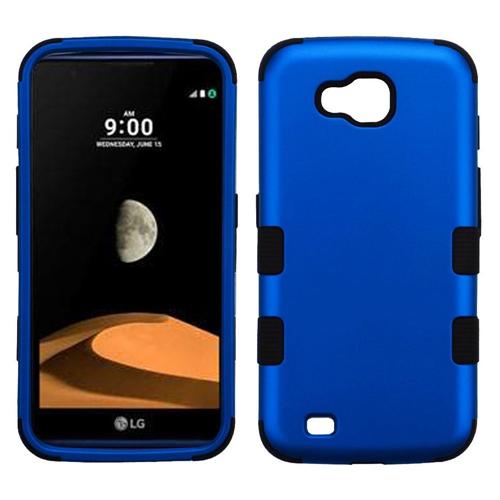 Insten Tuff Hard Hybrid Metallic TPU Cover Case For LG V9/X Venture, Blue/Black