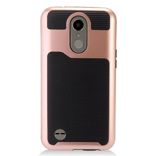 Insten Slim Hard TPU Cover Case For LG Harmony/K10 (2017)/K20 Plus/K20 V, Rose Gold/Black