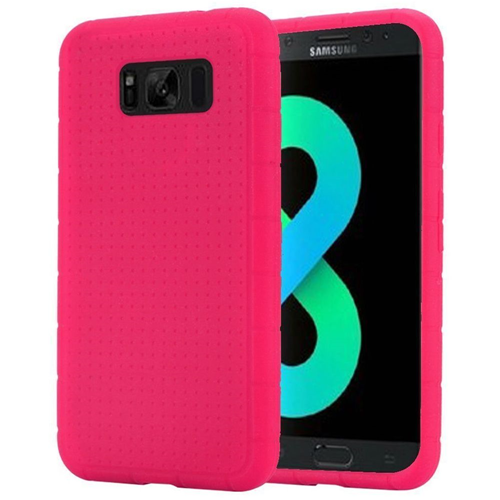 Insten Rugged Gel Rubber Case For Samsung Galaxy S8 Plus, Hot Pink