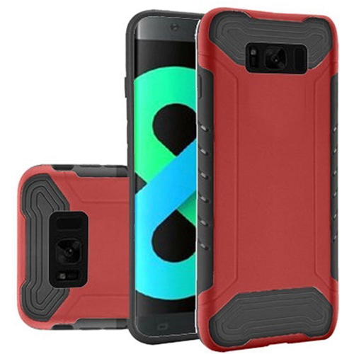 Insten Slim Armor Hard Dual Layer Plastic TPU Cover Case For Samsung Galaxy S8 Plus, Red/Black