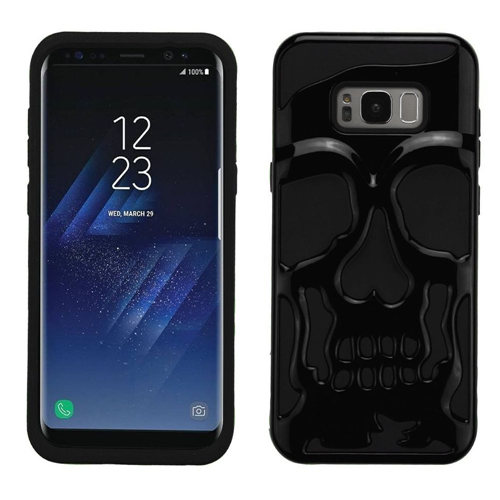 Insten Skullcap Hard Dual Layer Plastic TPU Cover Case For Samsung Galaxy S8 Plus, Black