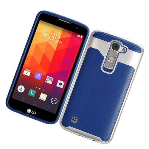 Insten Slim Hard TPU Case For LG K7 Tribute 5, Blue/Silver