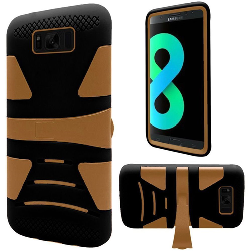 Insten Fitted Soft Shell Case for Samsung Galaxy S8 Plus - Gold;Black
